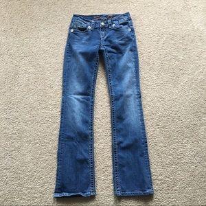 Seven7 Skinny Jeans W/ Flared Legs